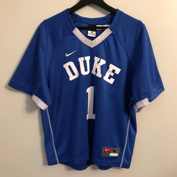 watch 0448f 6a823 Nike Duke NCAA Lacrosse Jersey Medium #1 Zion